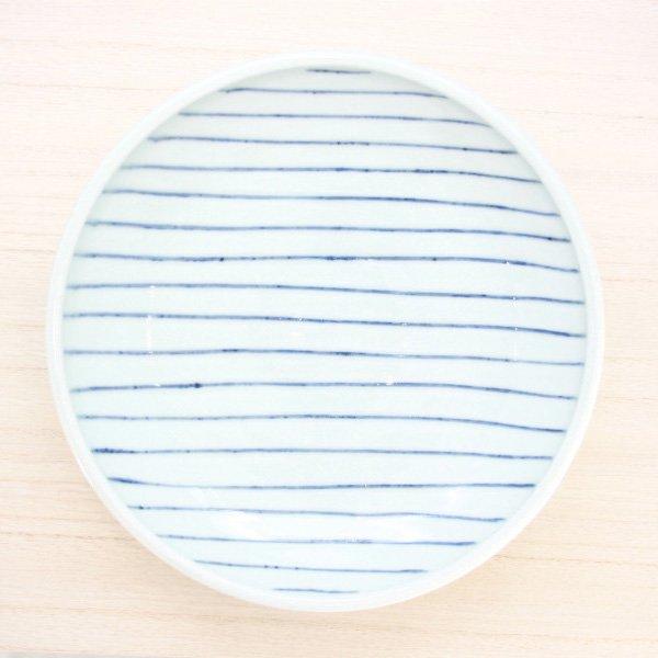 砥部焼・梅乃瀬窯 − 玉線皿 7寸 多線
