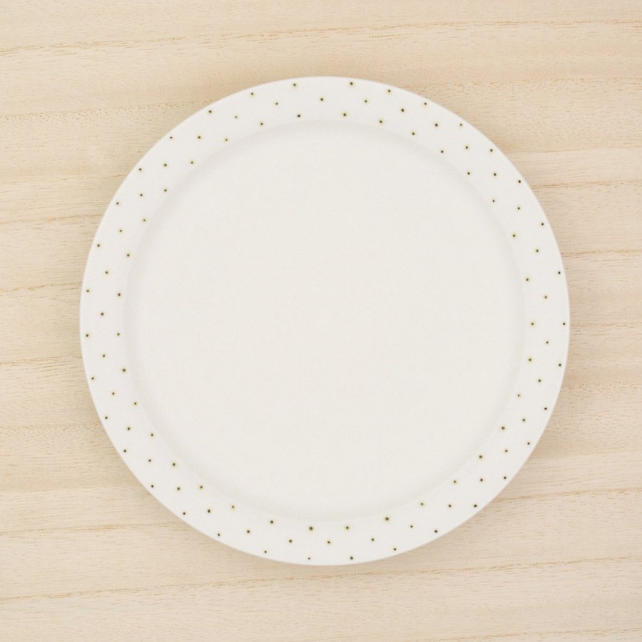 砥部焼・すこし屋 − 5.5寸皿 鉄ドット
