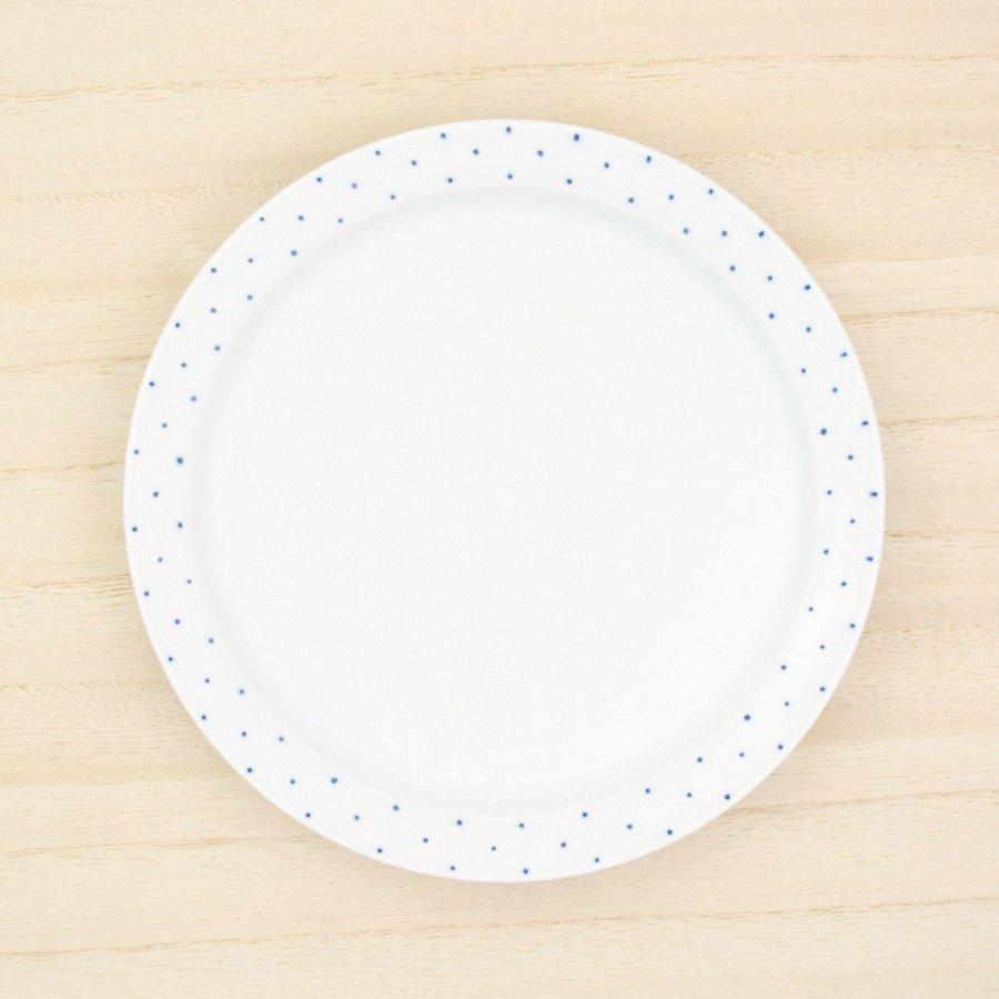砥部焼・すこし屋 − 5.5寸皿 青ドット