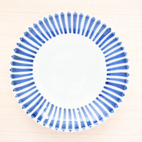 砥部焼・千山窯 − 7寸丸皿 十草