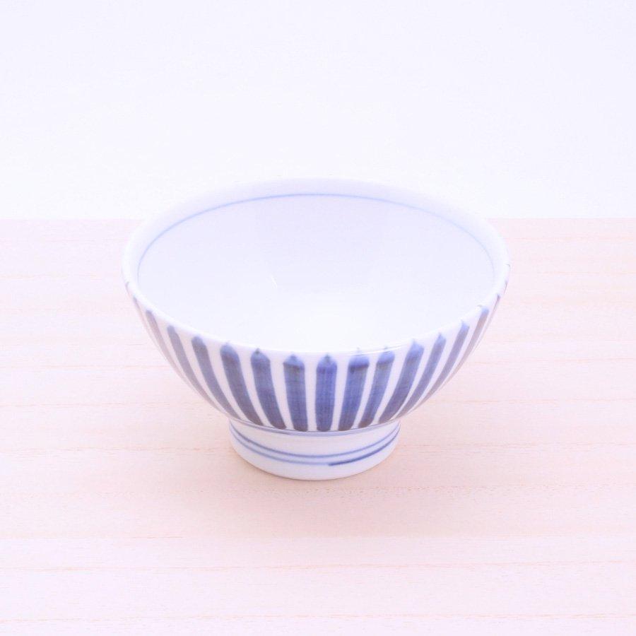 砥部焼・千山窯 − 茶碗(中) 十草