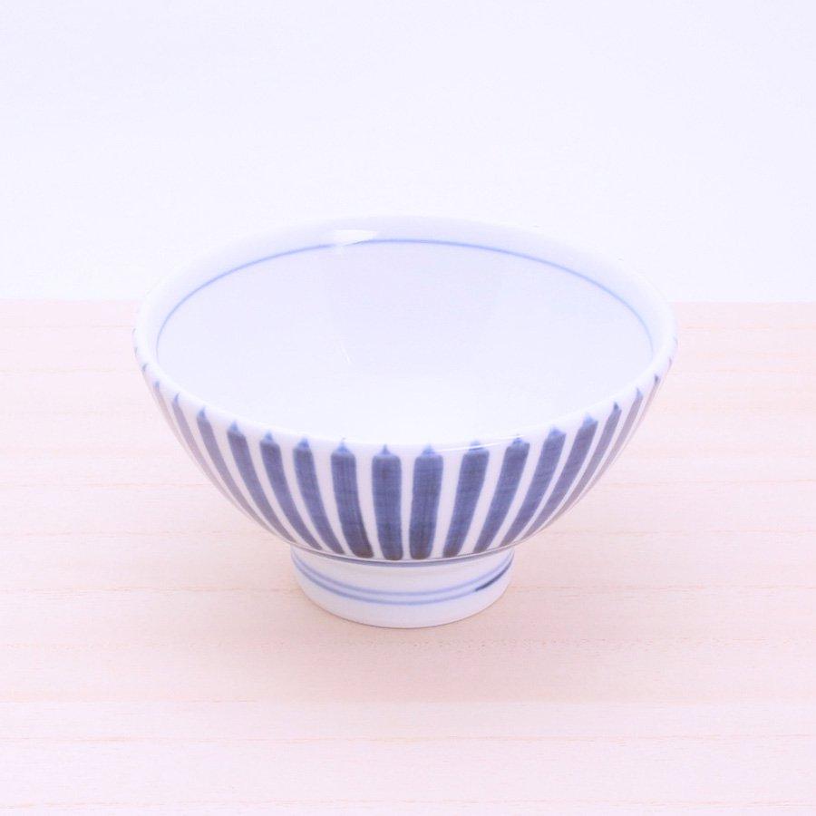 砥部焼・千山窯 − 茶碗(大) 十草