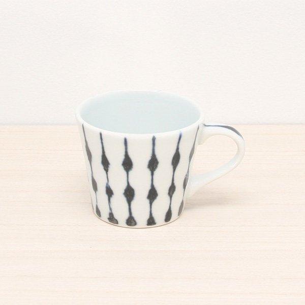 砥部焼・雲石窯 − コーヒーカップ しずく文