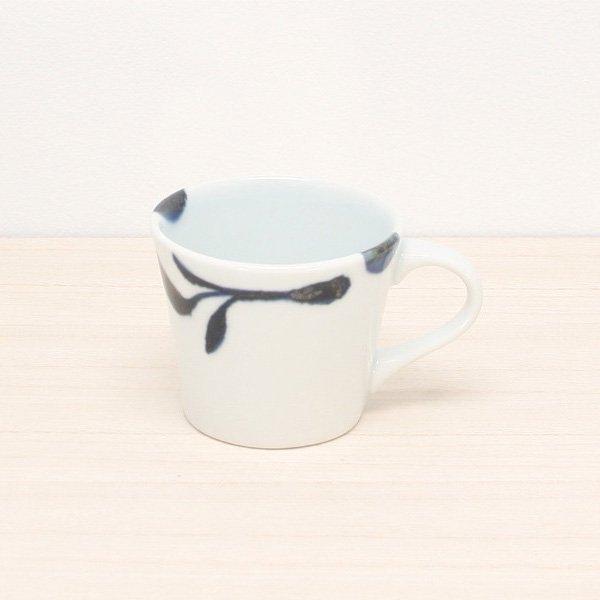 砥部焼・雲石窯 − コーヒーカップ 三ツ葉