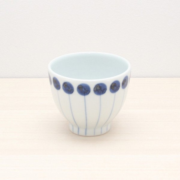 砥部焼・五松園窯 − カップ 丸と線