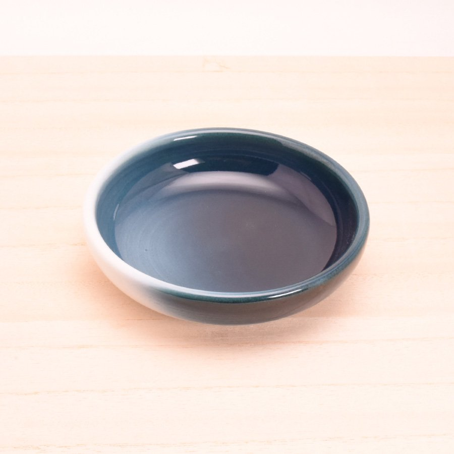 砥部焼・ヨシュア工房 − 小鉢 浅 内青