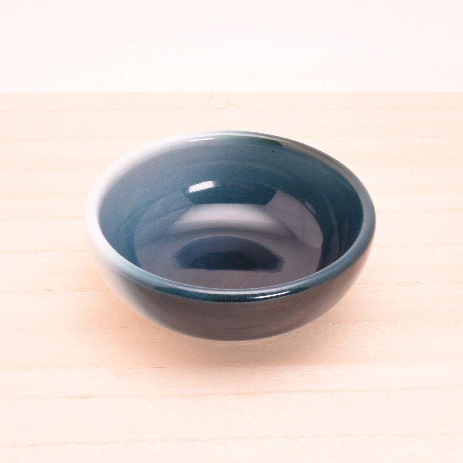 砥部焼・ヨシュア工房 − 小鉢 深 内青