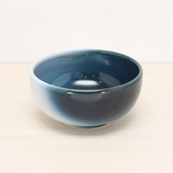 砥部焼・ヨシュア工房 − 深小鉢 内青