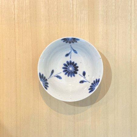 砥部焼・陶房 遊 − 朝顔小鉢 菊つなぎ