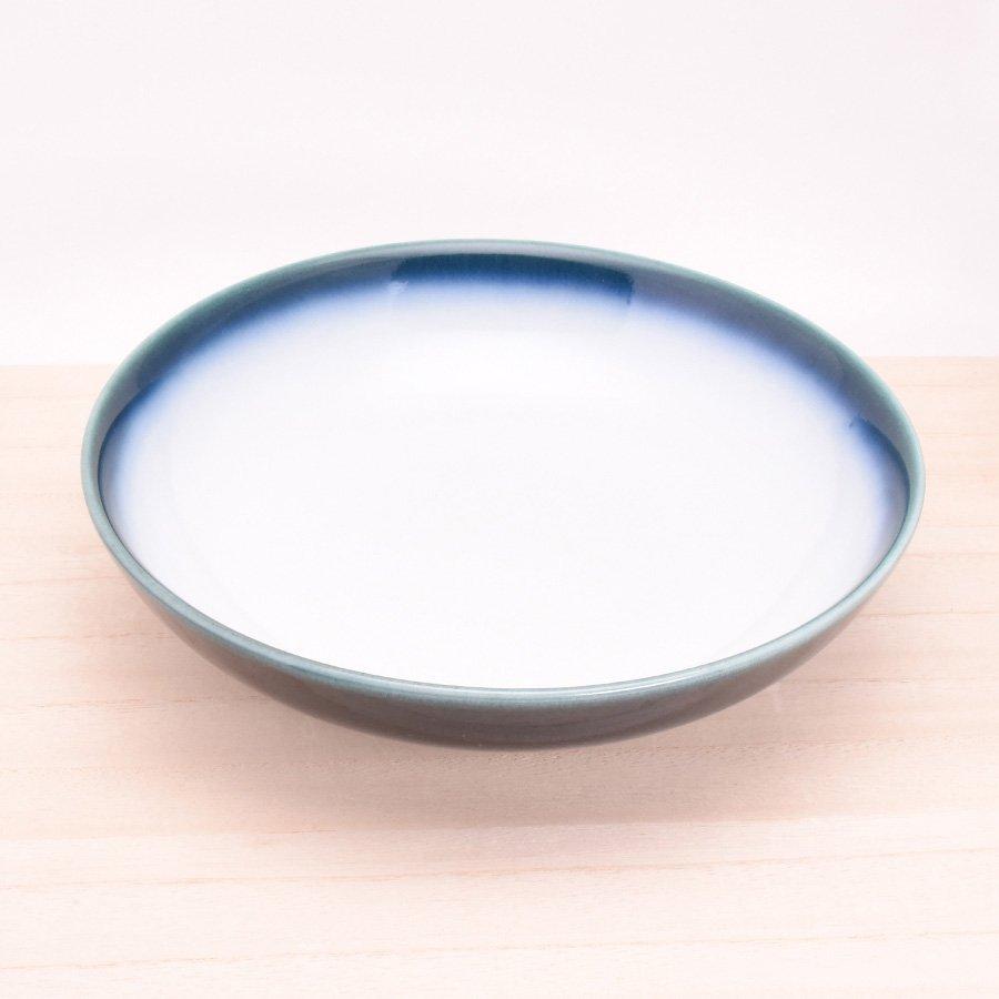砥部焼・ヨシュア工房 − 平鉢 中 内白