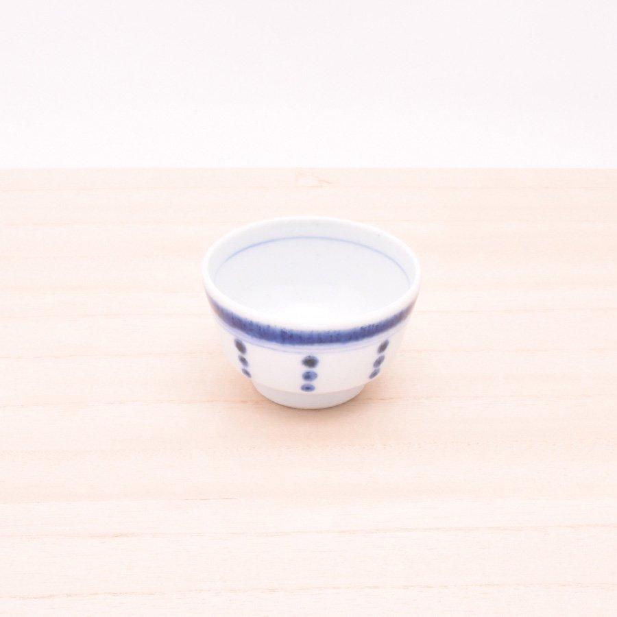 砥部焼・陶房 遊 − おちょこ ボーダードット