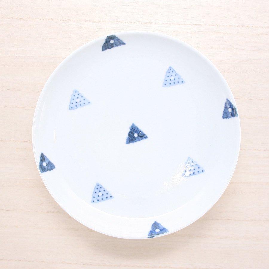 砥部焼・イロリ工房 − 6寸皿 サンカク