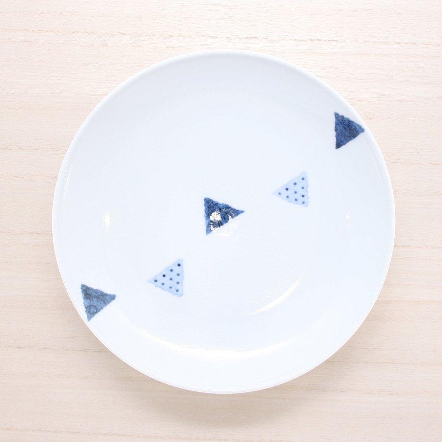 砥部焼・イロリ工房 − 6寸皿 センターツミキ