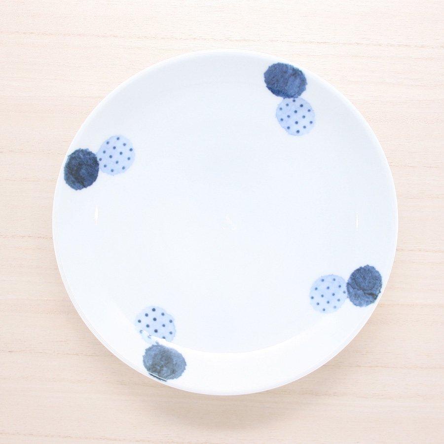砥部焼・イロリ工房 − 6寸皿 ニコマル