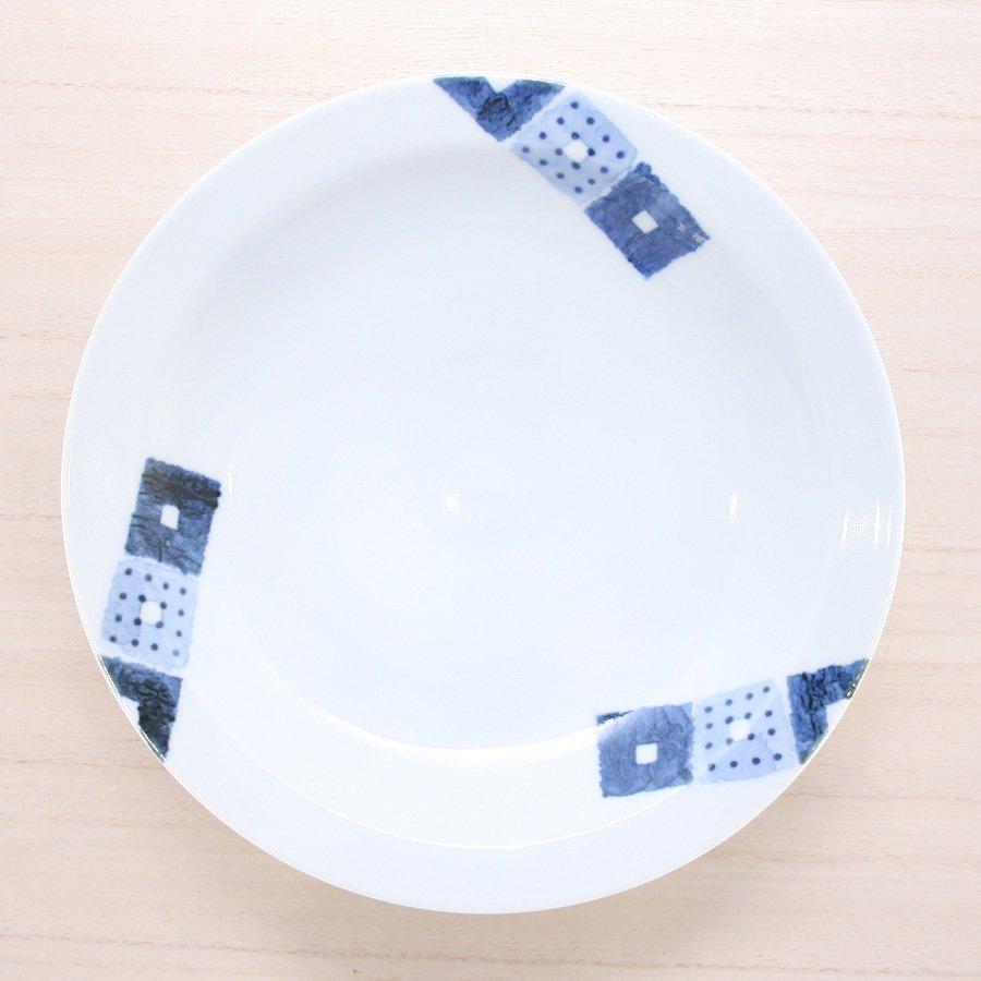 砥部焼・イロリ工房 − カレー皿 オビシカク