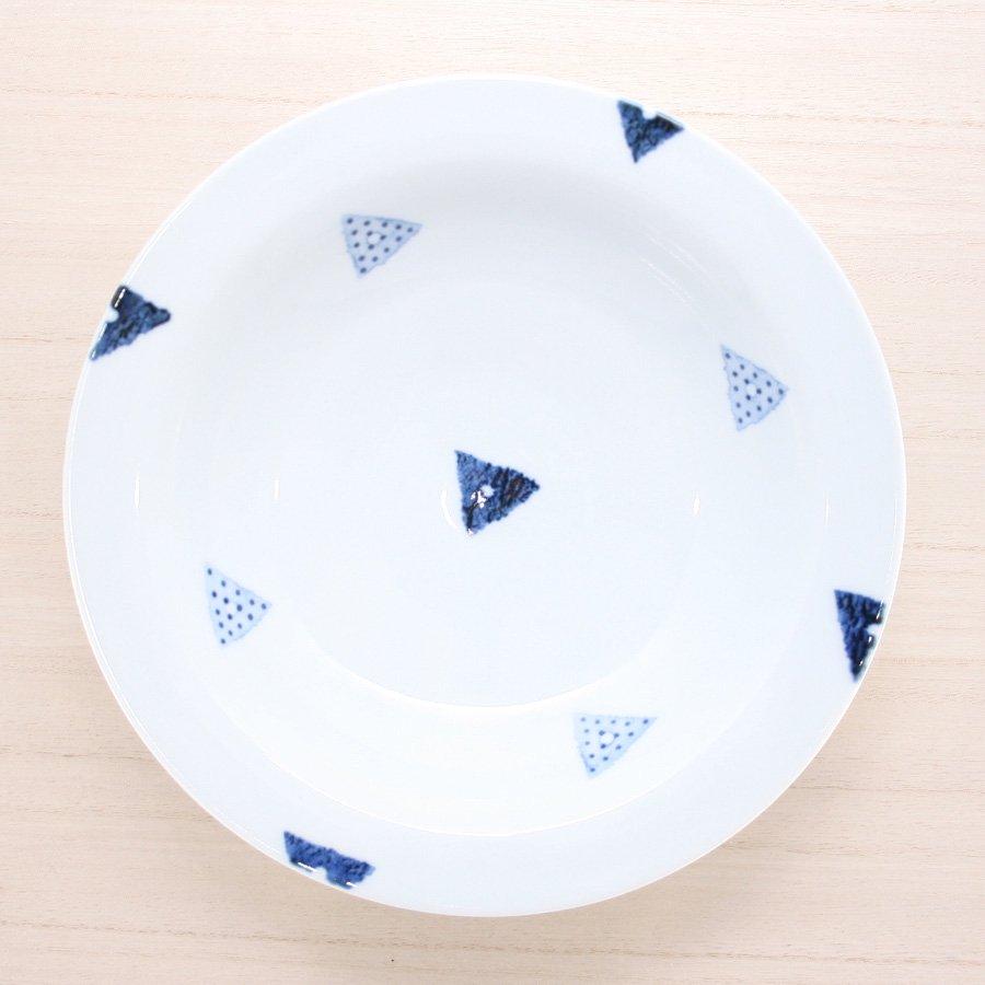 砥部焼・イロリ工房 − カレー皿 サンカク