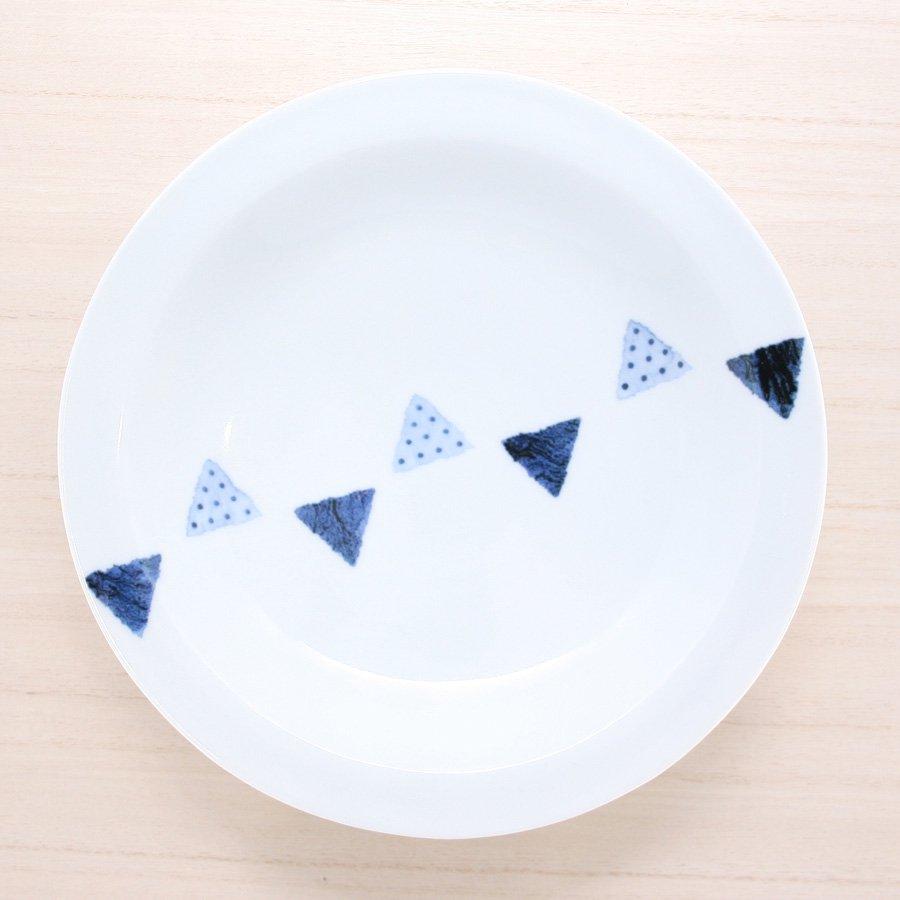 砥部焼・イロリ工房 − カレー皿 センターツミキ