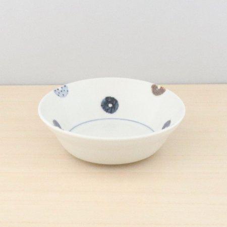 砥部焼・イロリ工房 − 4寸鉢 ドーナツ
