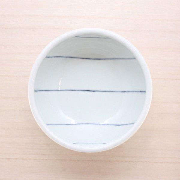 砥部焼・梅乃瀬窯 − 丼(小) 象嵌 線