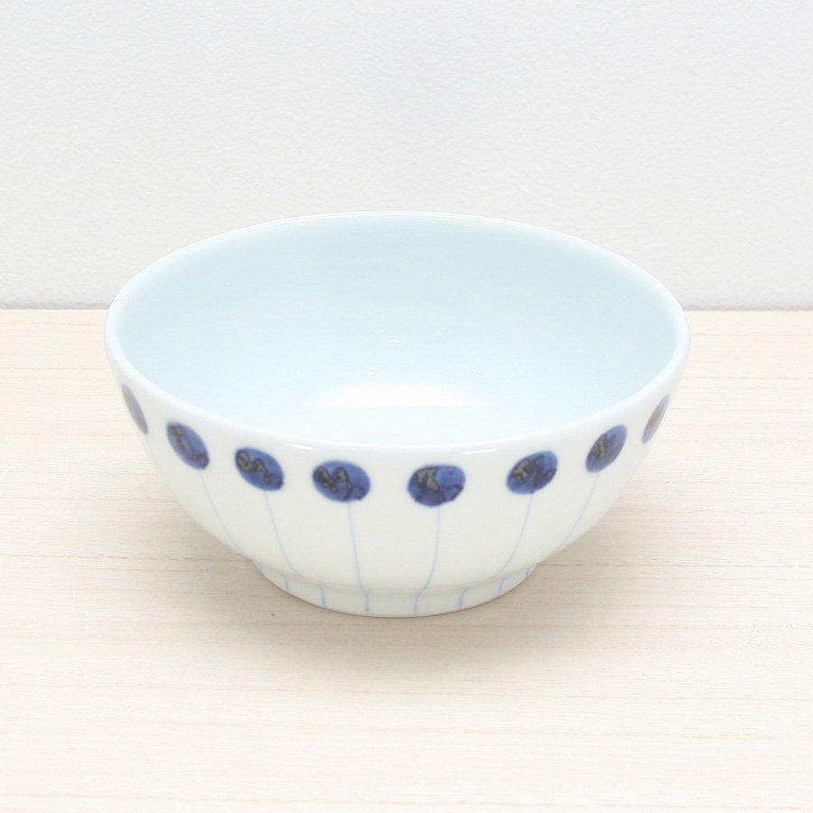 砥部焼・五松園窯 − 丸鉢 (中) 丸と線