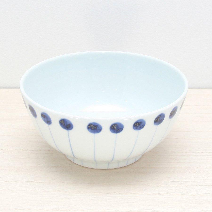 砥部焼・五松園窯 − 丸鉢 (大) 丸と線