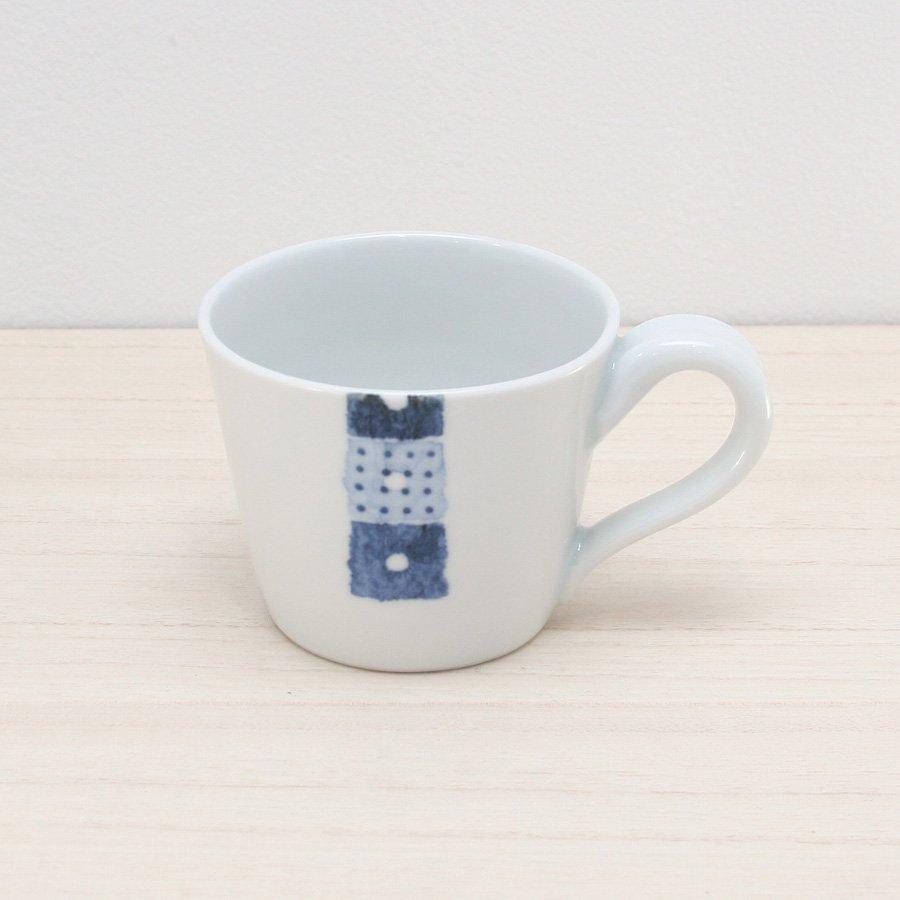 砥部焼・イロリ工房 − コーヒーカップ オビシカク