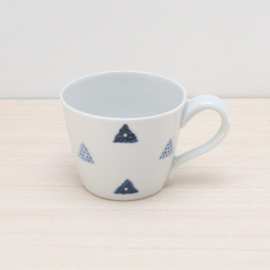 砥部焼・イロリ工房 − コーヒーカップ サンカク