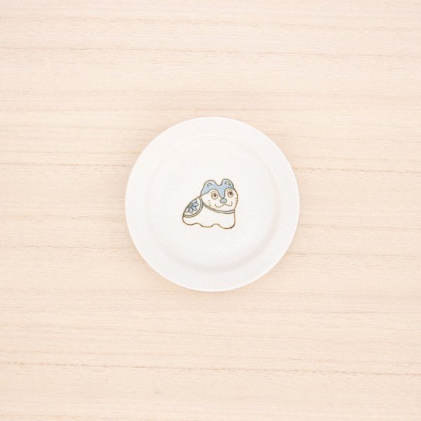 砥部焼・すこし屋 − 豆皿 こま犬