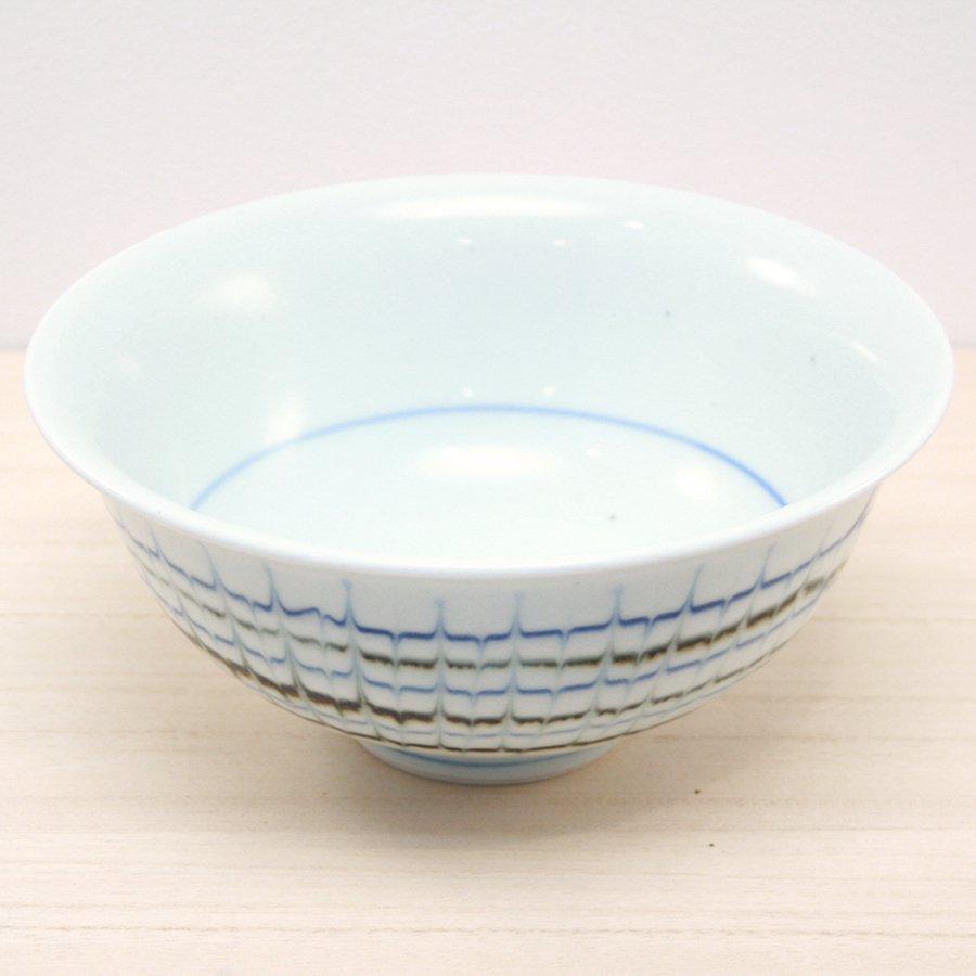 砥部焼・陶房 遊 − 口反りめん鉢 スリップウェア