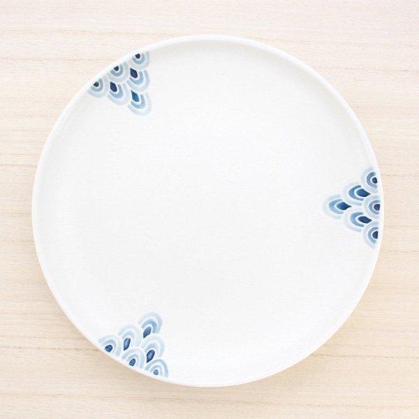 砥部焼・すこし屋 − 7寸丸皿 青海波