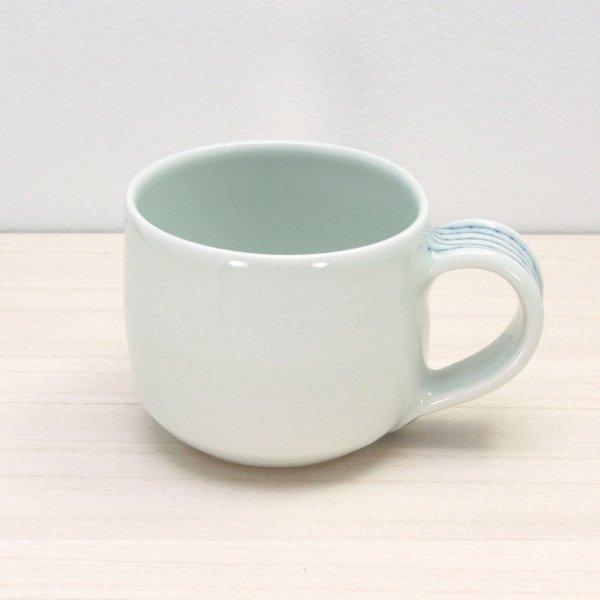 砥部焼・梅乃瀬窯 − マグカップ(大) 象嵌取手
