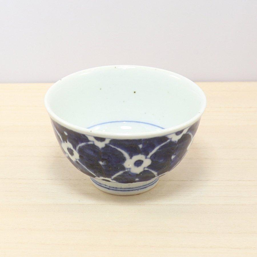 砥部焼・皐月窯 − 茶碗 染付花