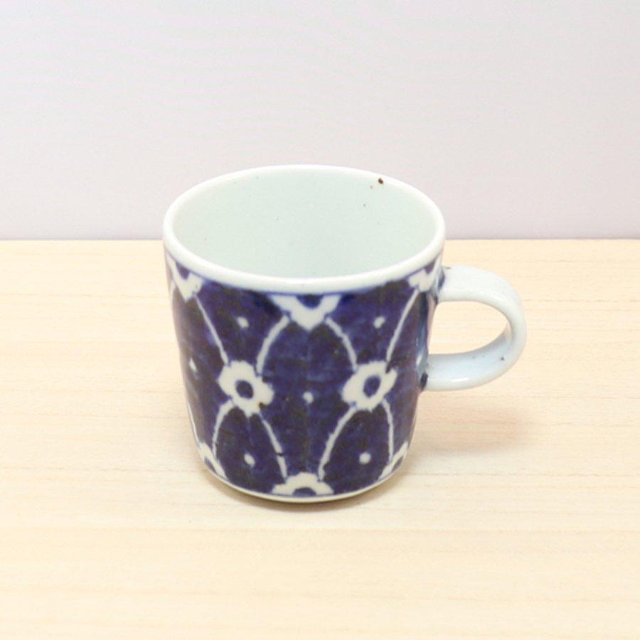 砥部焼・皐月窯 − マグカップ 染付花