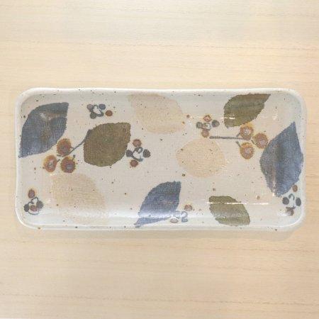 砥部焼・森陶房 − 長方皿 木の葉