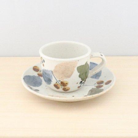 砥部焼・森陶房 − カップ&ソーサー 木の葉