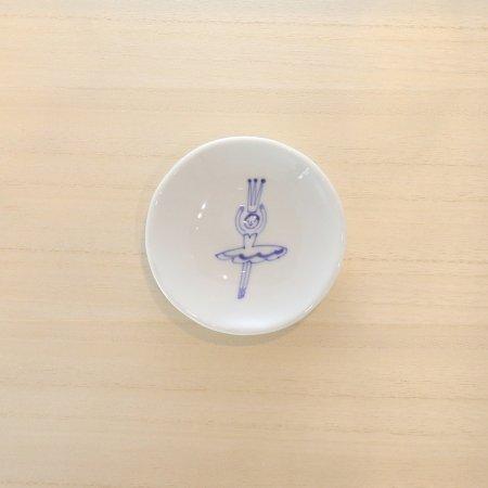 砥部焼・森陶房 − 丸小皿 バレリーナ フリル 1