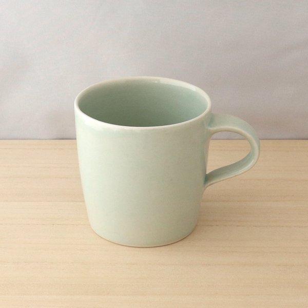 砥部焼・五松園窯 − マグカップ 緑 (大) [ロッシェセット]