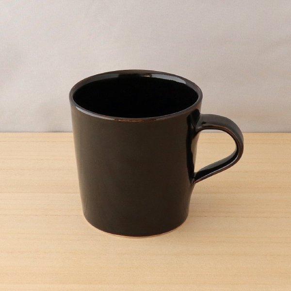 砥部焼・五松園窯 − マグカップ 黒 (大) [コーヒーセット]