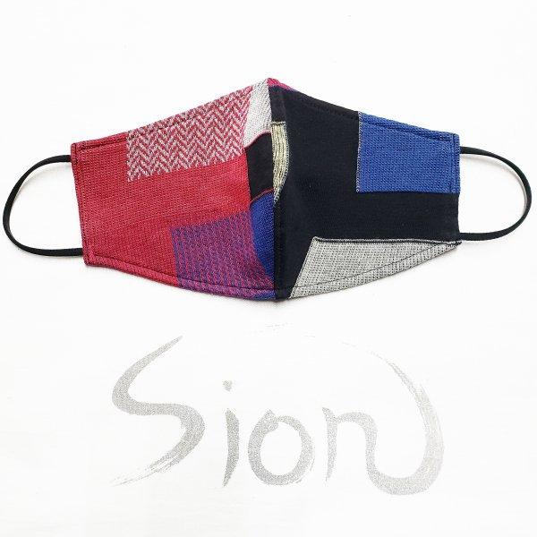 Sionやわらか立体布マスク(ブロックonブロック)