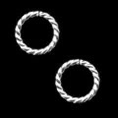 ホワイトSV縄リングφ11.2-1.6mm