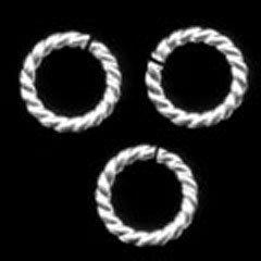 ホワイトSV縄リングφ12.0-2.0mm