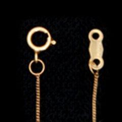 ゴールドフィルドラウンドカーブチェーン18cm