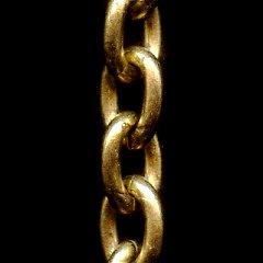 ビンテージゴールド オーバルチェーン4
