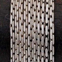 アンティークシルバープレーテドビーディングチェーン0.75mm