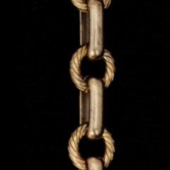 アンティークゴールドブラスチェーン28