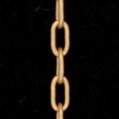 ビンテージゴールドロングキューブチェーン1.9mm
