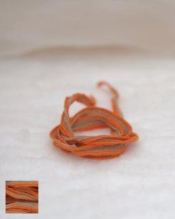 【SALE ¥1234→¥880】シルクシフォンリボン ベージュ-オレンジ