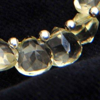 レモンクオーツファセッテドピラミッド約8-8-5mm