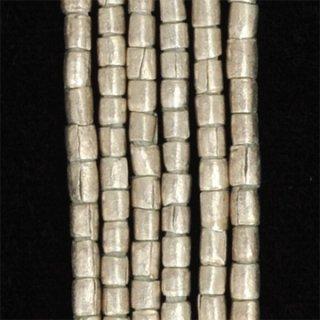 シルバープレーテドメタルジャーマンチューブビーズ2.5-3mm