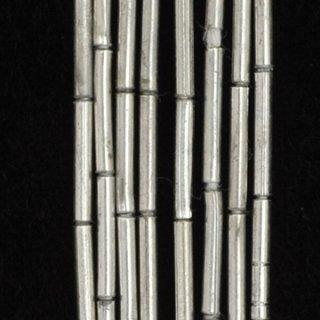 シルバープレーテドメタルチューブスペーサービーズ10mm